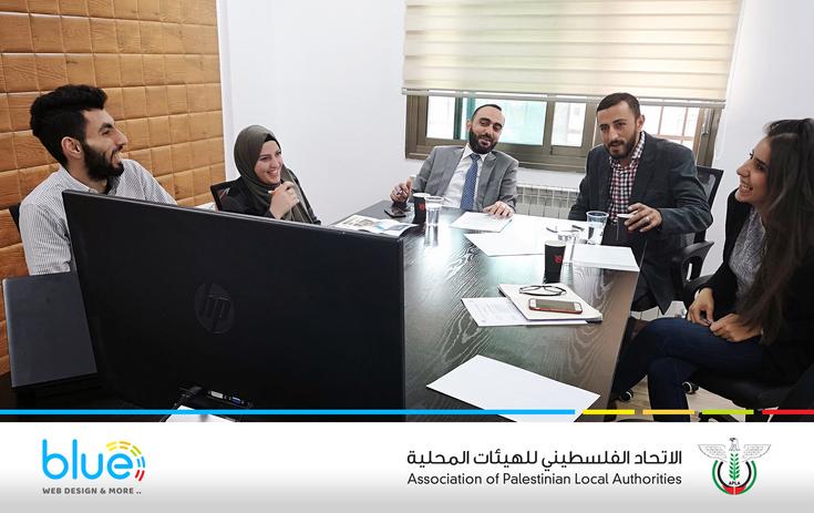 شركة بلو تطلق الموقع الإلكتروني للاتحاد الفلسطيني للهيئات المحلية