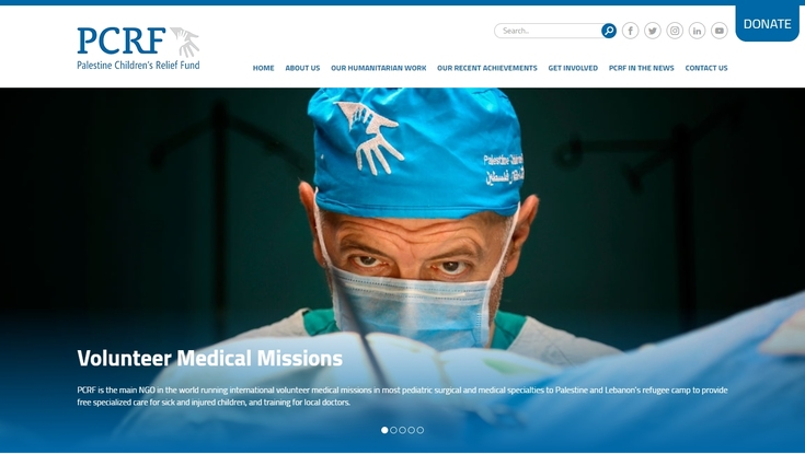 Blue launches the new website for Palestine Children's Relief Fund (PCRF)